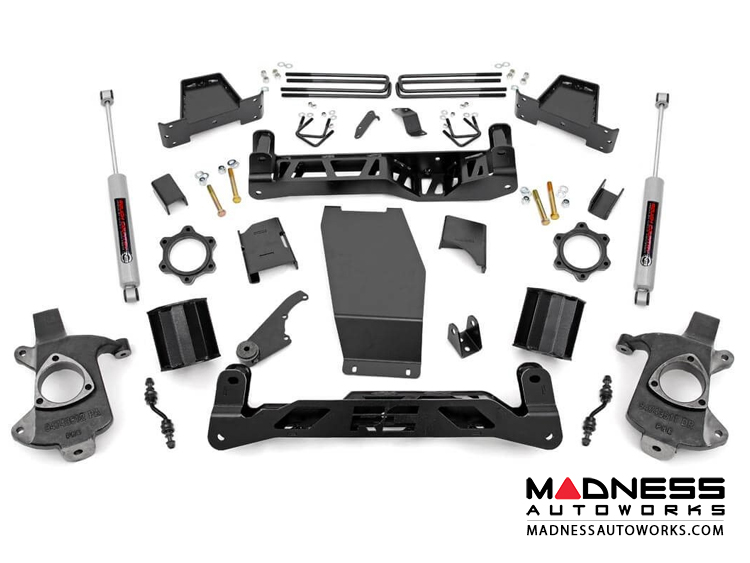"Chevy Silverado 1500 4WD Suspension Lift Kit w/ N3 Shocks - 6"" Lift - Aluminum Stamped Steel"